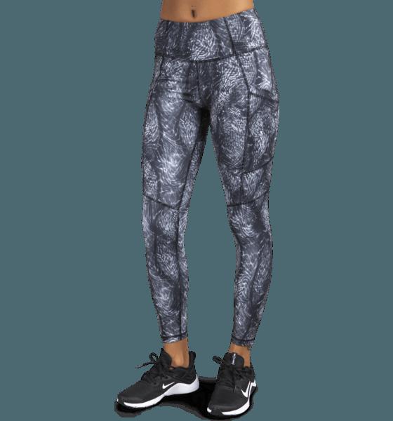 Soc W Pocket Ths Yogakläder BLACK/PRINTED W Pocket Ths
