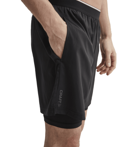 Craft M Charge 2 In 1 Shorts Träningskläder BLACK M Charge 2 In 1 Shorts