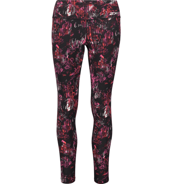 W Print Fitness Mid-rise Compression Tights