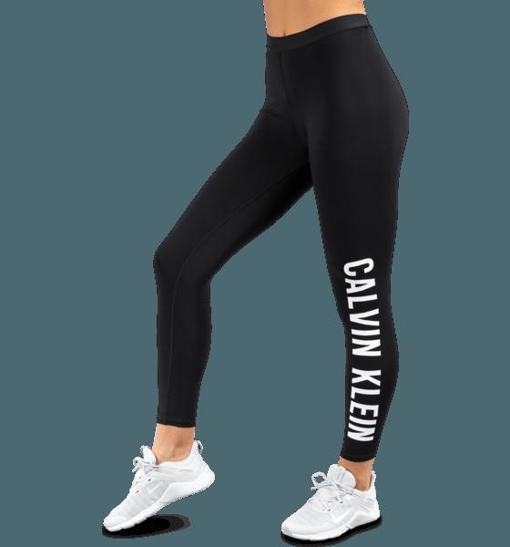 Calvin Klein W Logo Tights 7/8 Träningskläder CK BLACK W Logo Tights 7/8