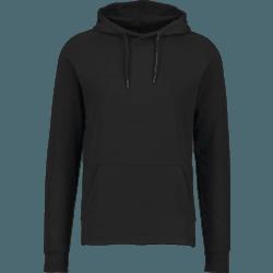 svart hoodie utan tryck