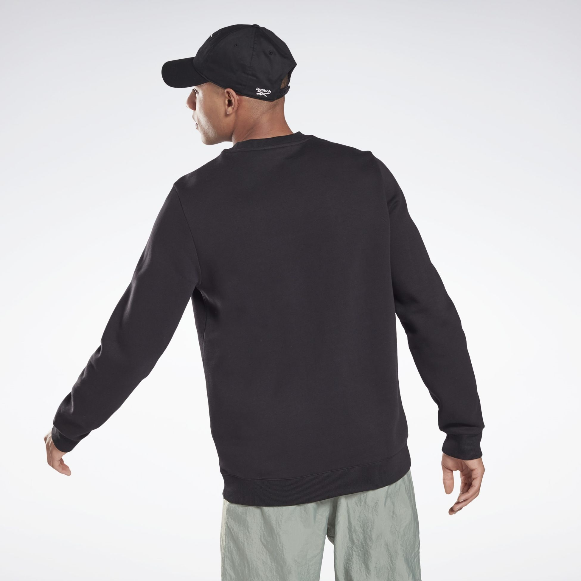 356049104101, Identity Fleece Crew Sweatshirt, REEBOK, Detail