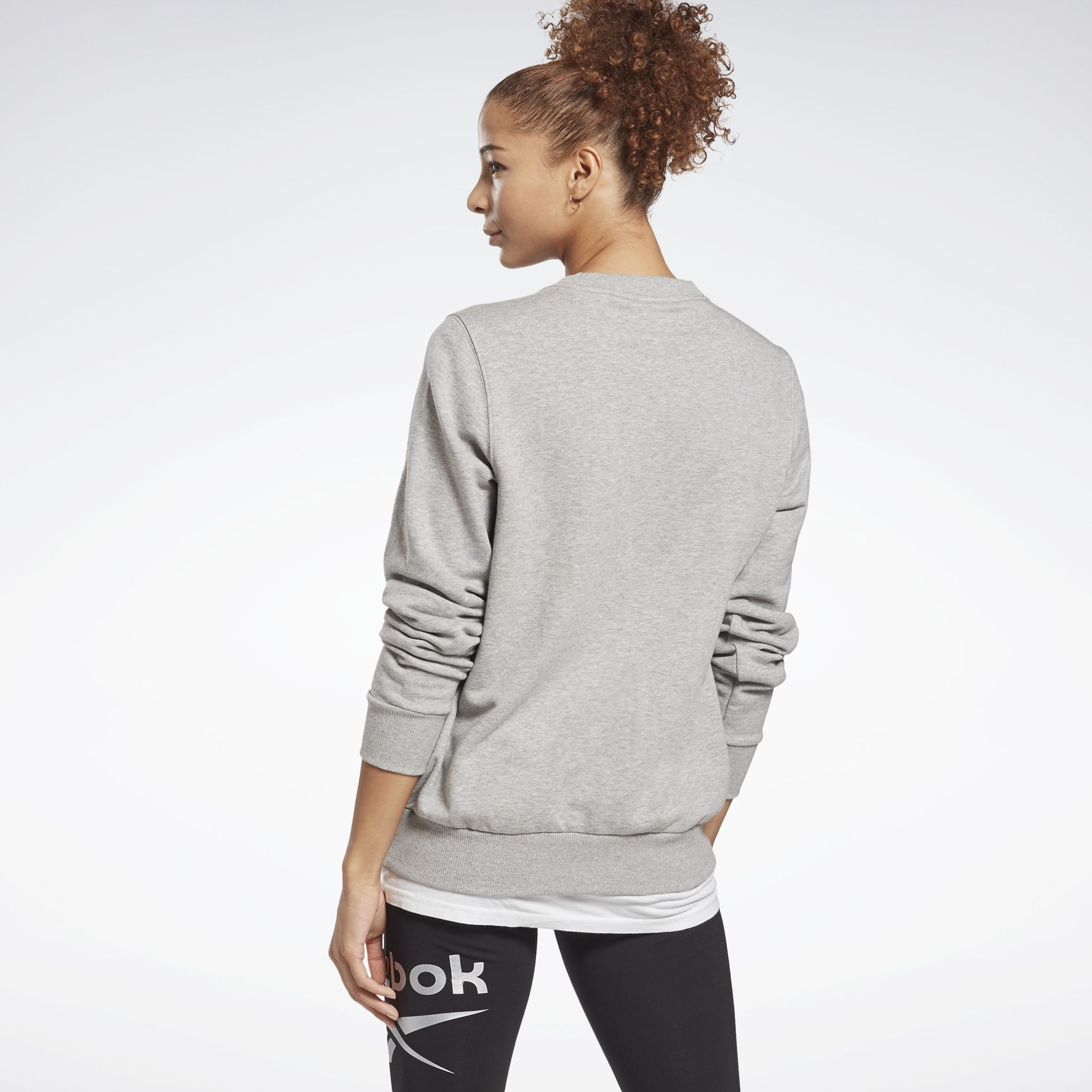 356159105101, Identity Logo French Terry Crew Sweatshirt, REEBOK, Detail